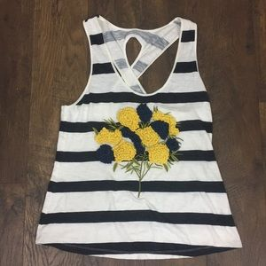 Anthropologie Pilcro floral striped tank top